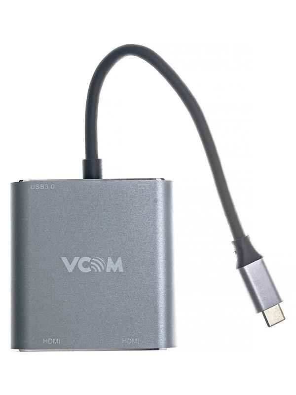 Фото - Аксессуар VCOM Type-C - 2xHDMI/USB3.0/PD Charging CU450 аксессуар ножницы для кутикулы сталекс н 14 47348
