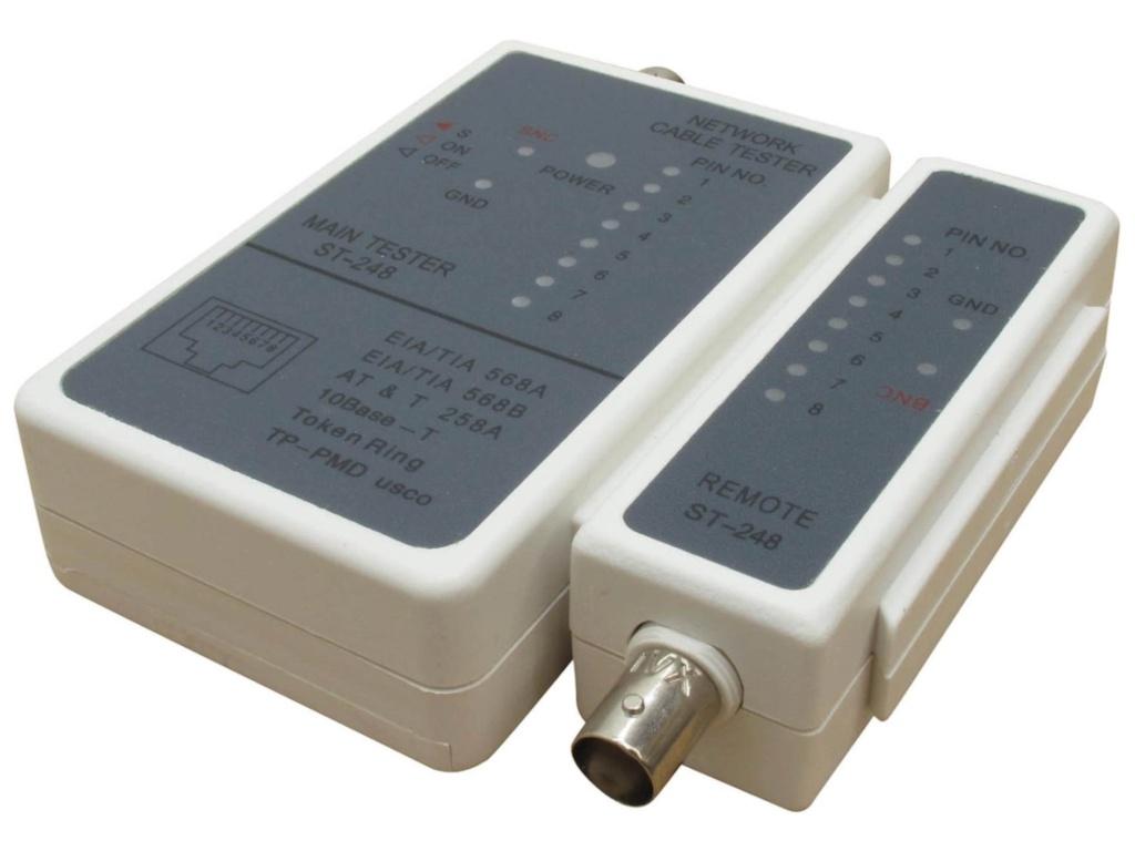 Тестер Telecom LAN для RJ-11/ RJ-12/RJ-45/BNC ST-248