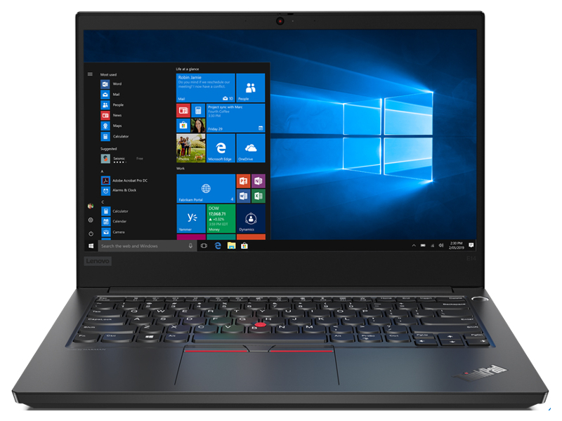 Ноутбук Lenovo ThinkPad E14 20RA001DRT (Intel Core i5-10210U 1.6GHz/16384Mb/256Gb SSD/Intel HD Graphics/Wi-Fi/Bluetooth/Cam/14.0/1920x1080/Windows 10 64-bit)