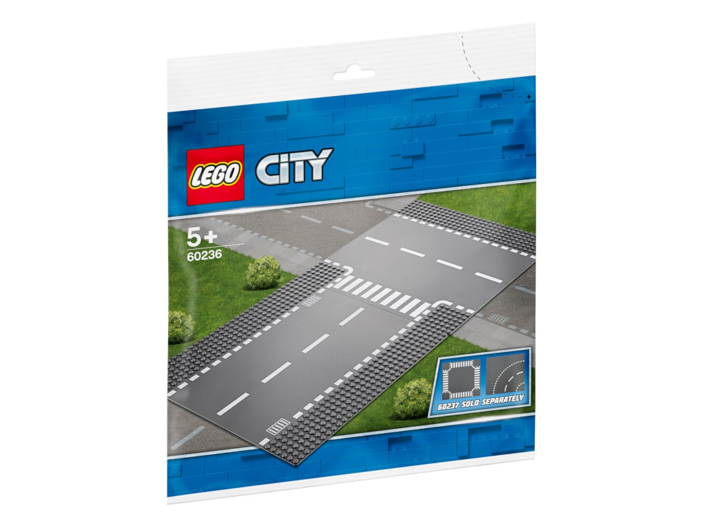 Конструктор Lego City Прямой и Т-образный перекрёсток 60236