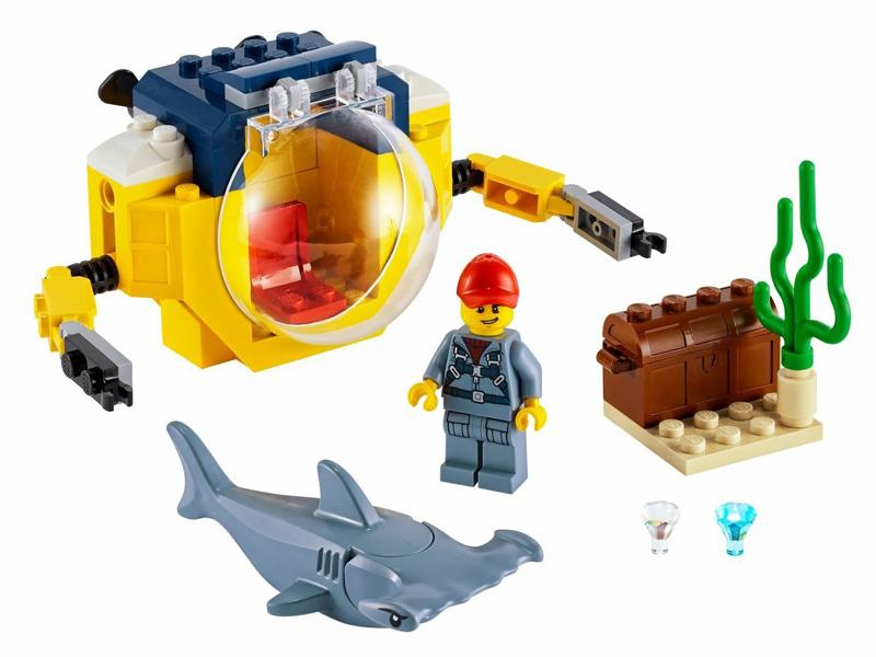 Конструктор Lego City Океан: Мини-подлодка 41 дет. 60263