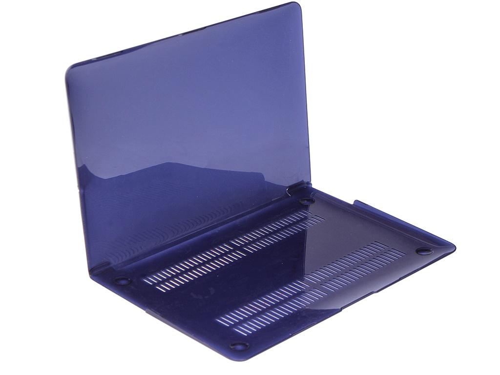 Аксессуар Чехол Gurdini для APPLE MacBook Air 13 Plastic Dark Blue 907483