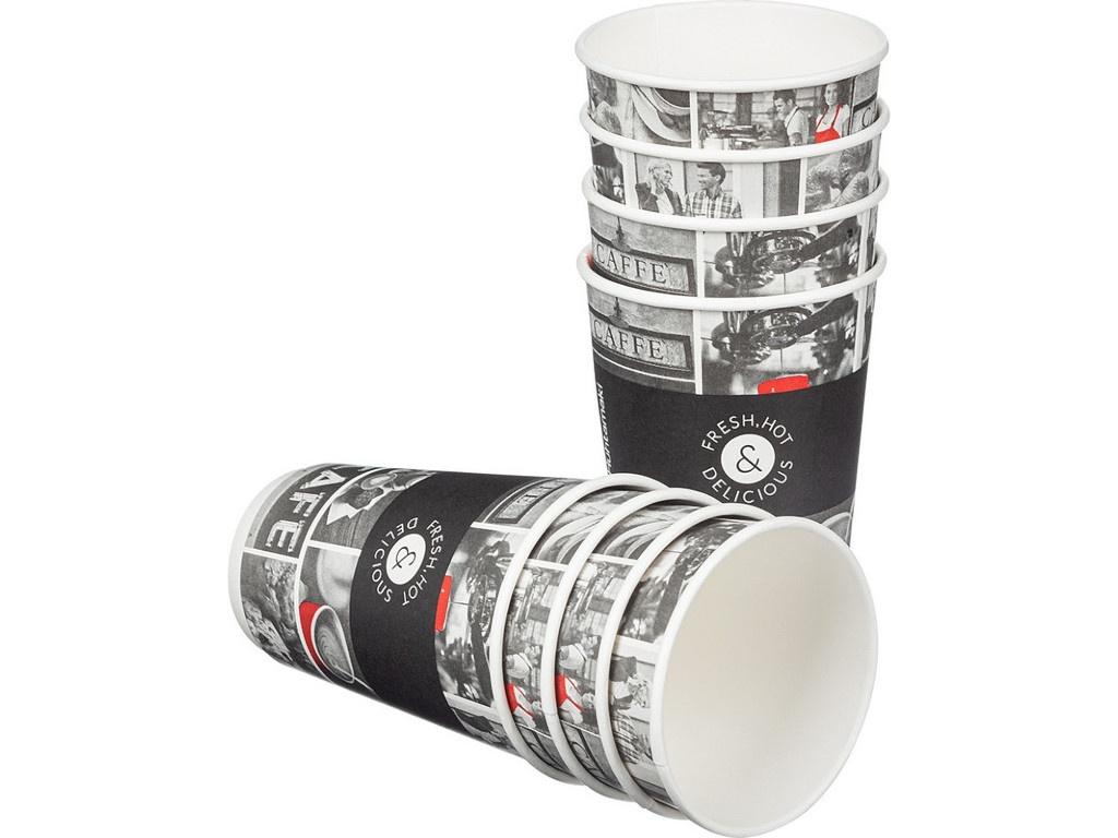 Одноразовые стаканы Huhtamaki Cafe Noir DW16 400ml 18шт 77181600-1868/2