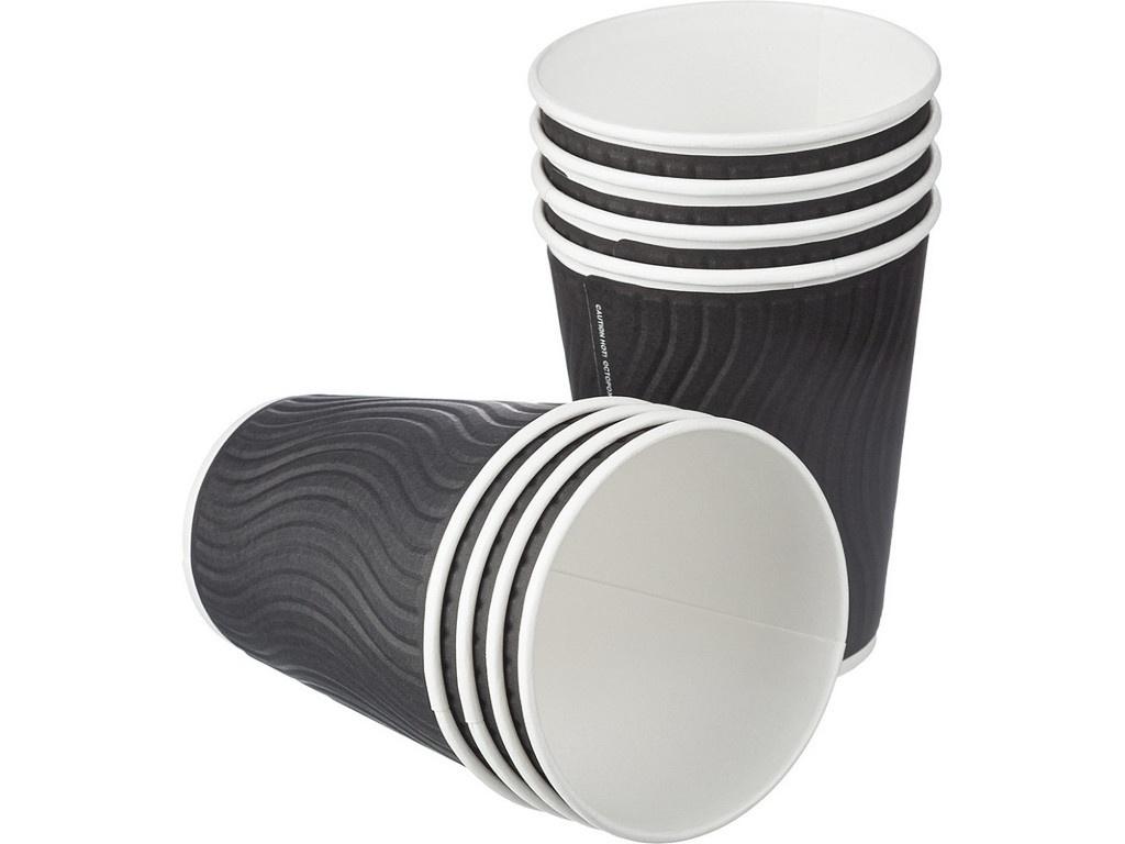 Одноразовые стаканы Huhtamaki NDW12 300ml Black 40шт 771W1200-2406/2