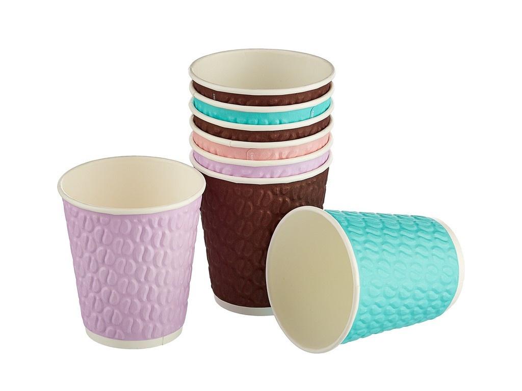 Одноразовые стаканы Huhtamaki NDW12 Кофейные зерна 300ml 40шт