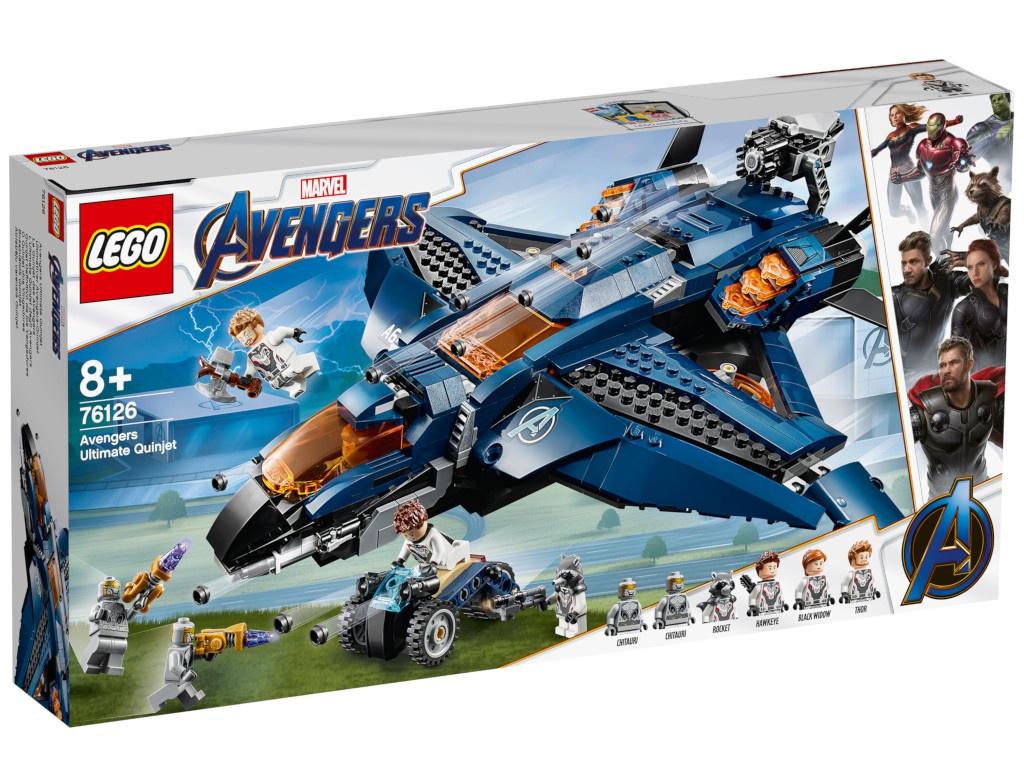 Конструктор Lego Marvel Super Heroes Модернизированный квинджет Мстителей 838 дет. 76126