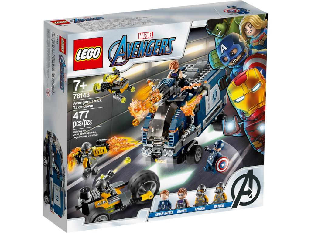 Конструктор Lego Marvel Super Heroes Мстители: Нападение на грузовик 477 дет. 76143