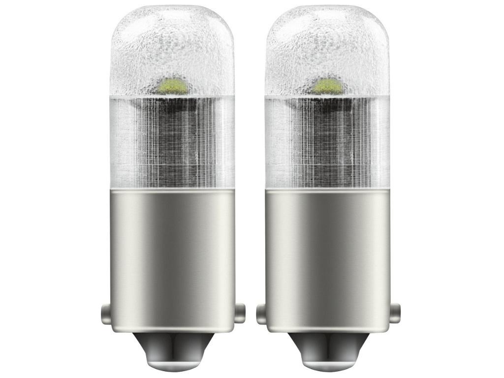 Лампа Osram T4W 12V-1W (BA9s) LED Cool White 2шт 3850CW-02B