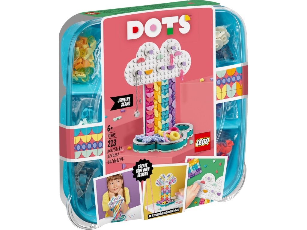 Конструктор Lego Dots Подставка для украшений Радуга 213 дет. 41905