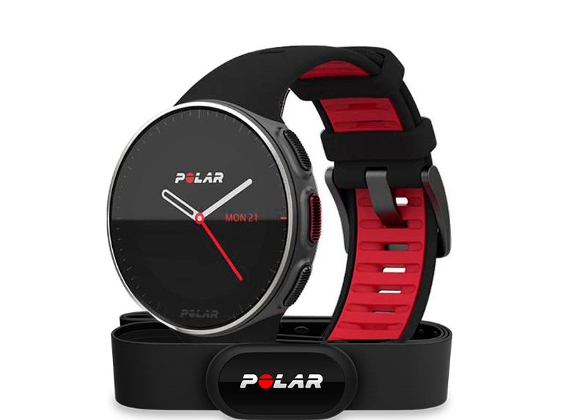 Часы Polar Vantage V TI Black-Red HR 90075339