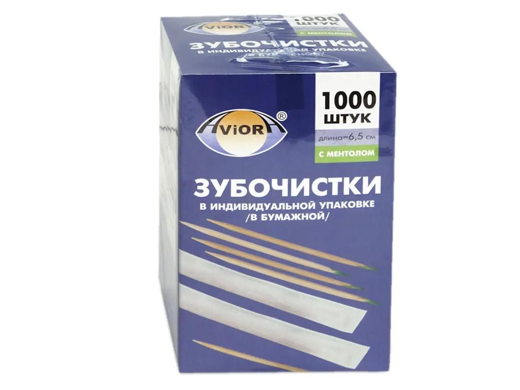 Зубочистки Aviora с ментолом 1000шт 401-609