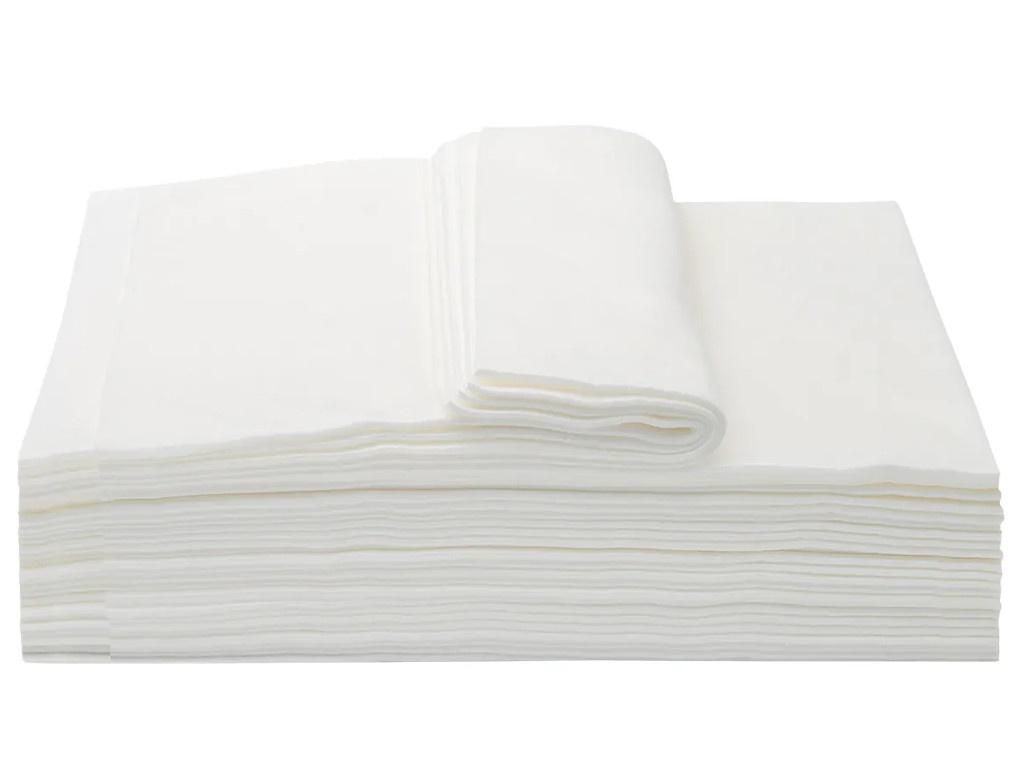 Полотенца Aviora Комфорт спанлейс 45x90cm 50шт White 404-017
