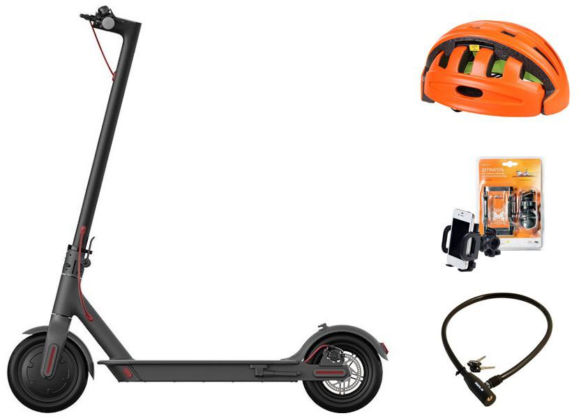 Электросамокат Xiaomi Mijia Electric Scooter 1S Black Выгодный набор + серт. 200Р!!!