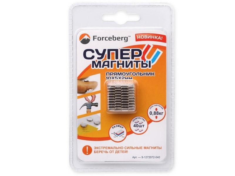 Неодимовый магнит прямоугольник Forceberg 10х5х2mm 40шт 9-1272072-040