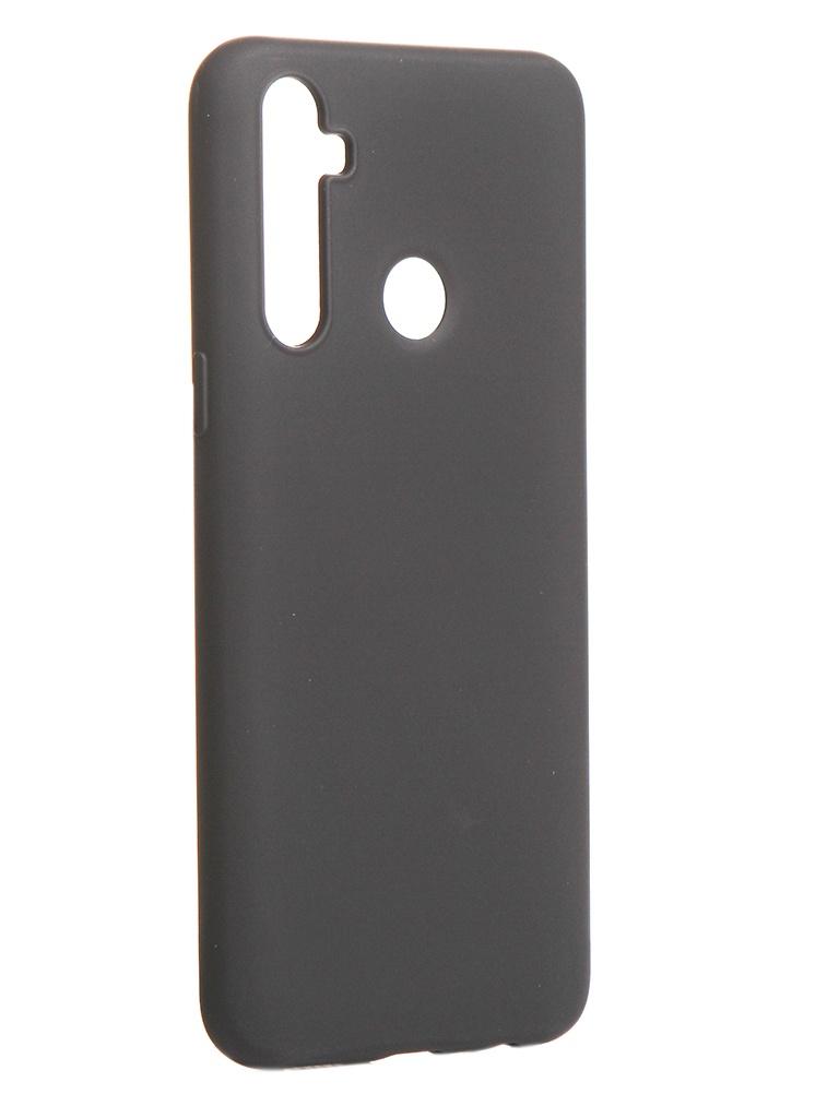 Чехол DF для Realme C3 с микрофиброй Silicone Black rmOriginal-04 силиконовый супертонкий чехол для lg k4 df lgcase 03