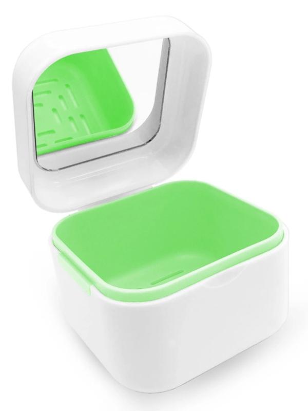 Контейнер для хранения протезов Dentalpik DP2 с зеркалом Green 05.4358-2