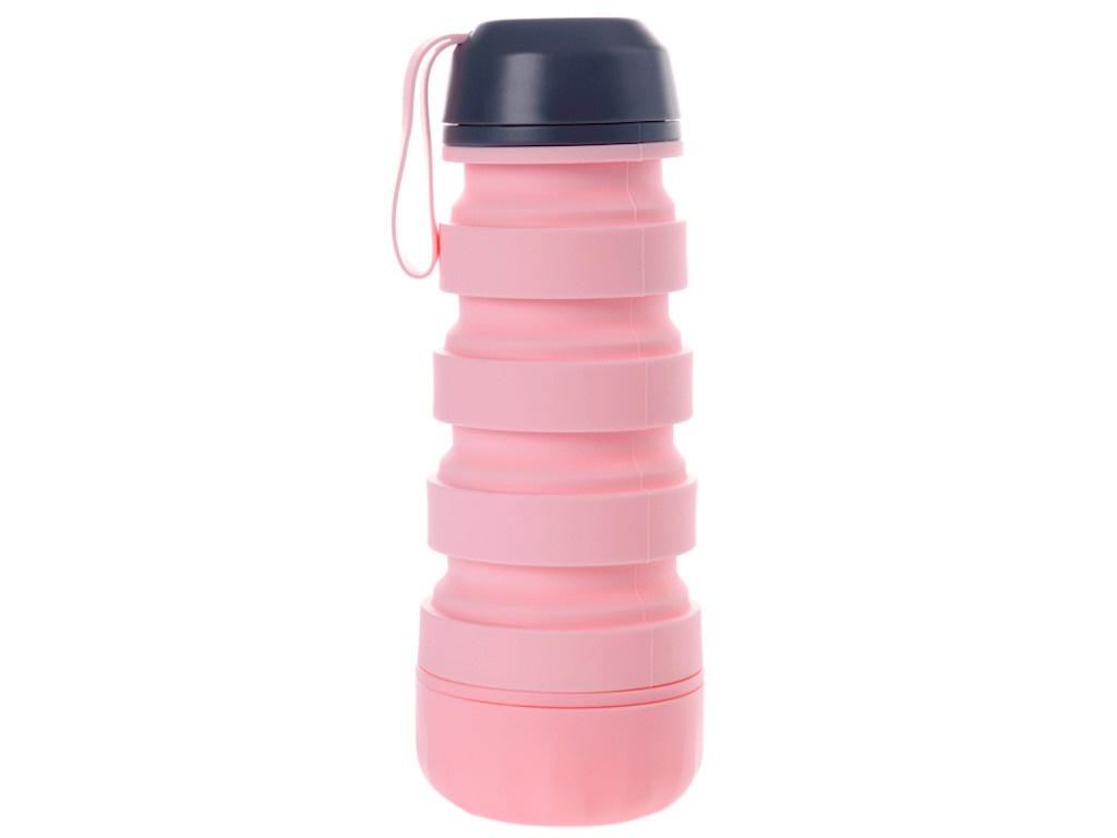 Бутылка Bradex Силиконовая с отсеком для таблеток Pink KZ 0657