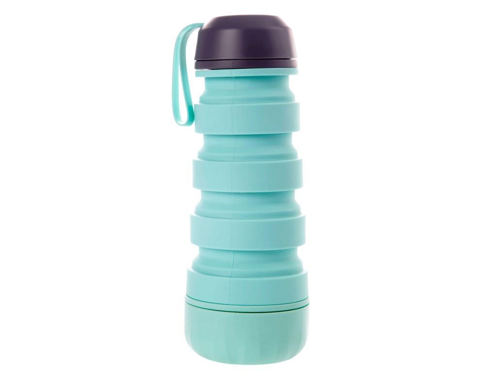 Бутылка Bradex Силиконовая с отсеком для таблеток Turquoise KZ 0656