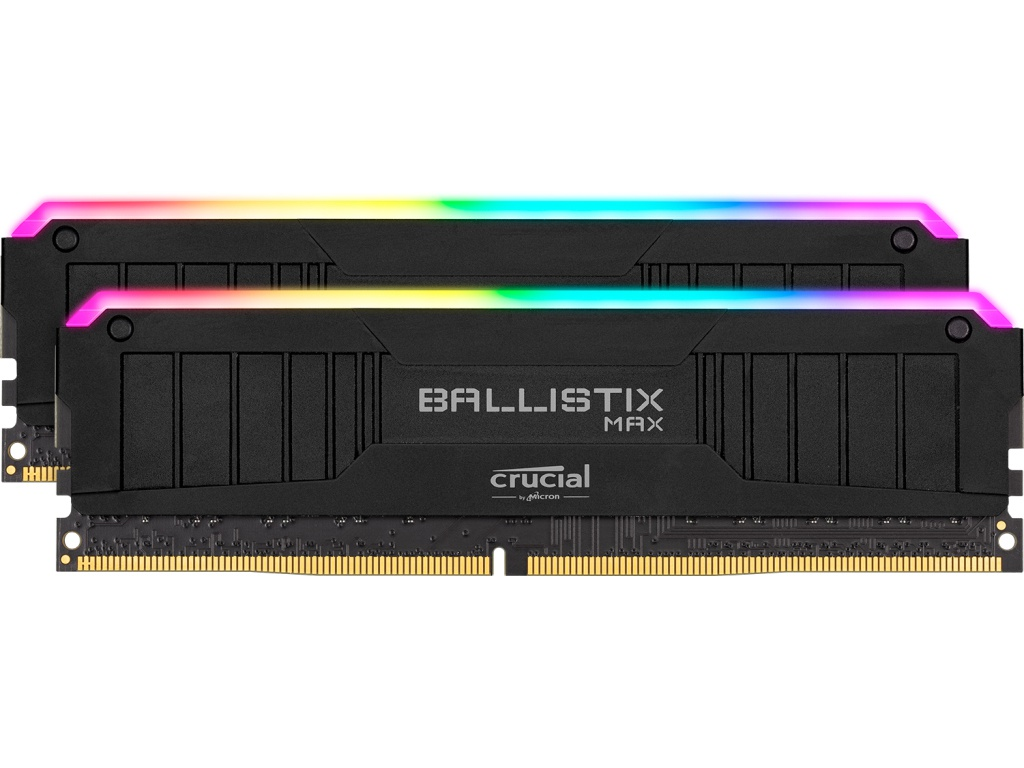 Модуль памяти Ballistix Max RGB Black DDR4 DIMM 4000MHz PC-32000 CL18 - 16Gb Kit (2x8Gb) BLM2K8G40C18U4BL