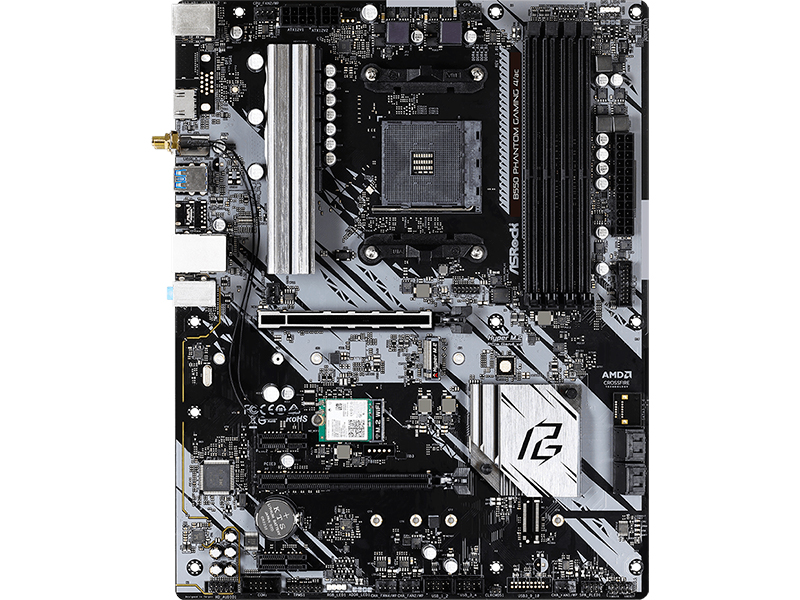 Материнская плата ASRock B550 Phantom Gaming 4/AC материнская плата asrock z490 phantom gaming 4 ac