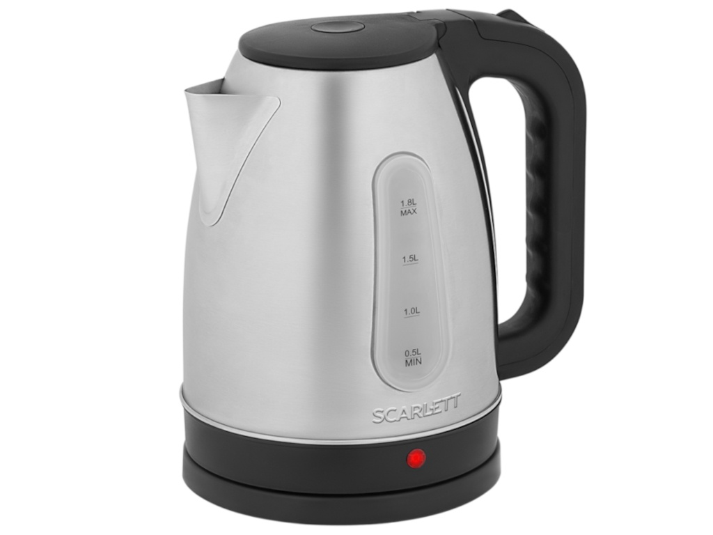 Чайник Scarlett SC-EK21S95 чайник электрический scarlett sc ek21s95 2200 вт серебристый чёрный 1 8 л металл