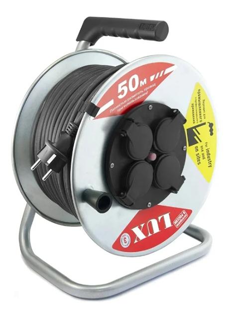 Удлинитель Lux 23269 К4-Е-50 КГ 3x2.5 50m 16А