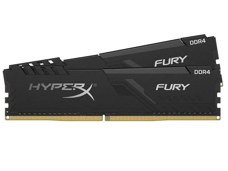 Модуль памяти HyperX Fury Black DDR4 DIMM 2666MHz PC21300 CL16 - 32Gb Kit (2x16Gb) HX426C16FB4K2/32