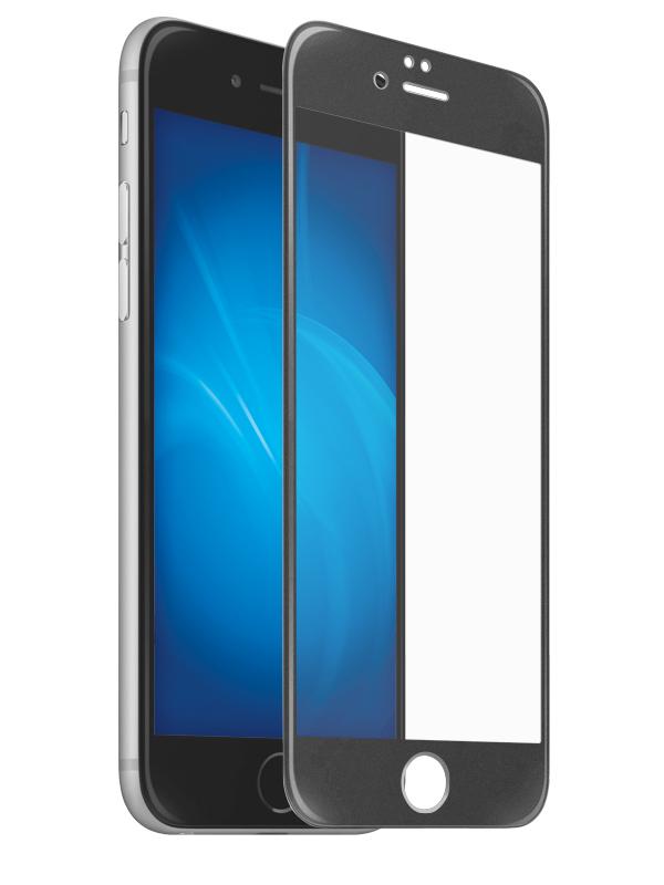 Защитное стекло Krutoff для APPLE iPhone 6/6S Full Glue Premium Black 22751