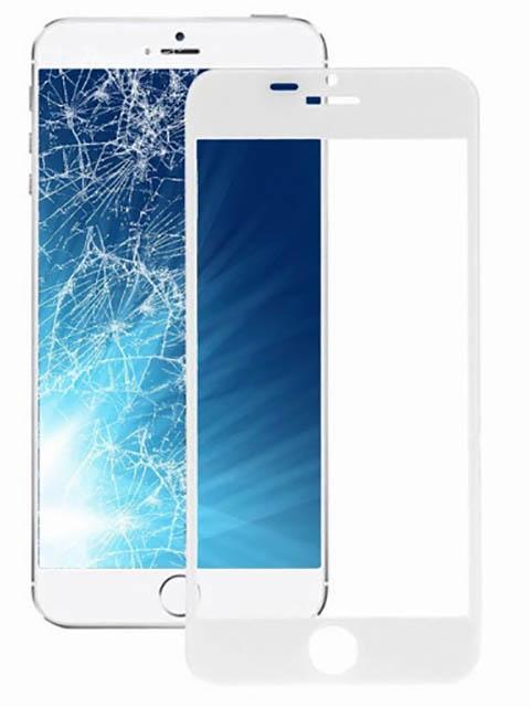 Защитное стекло Krutoff для APPLE iPhone 6 Plus/6S Plus Full Glue Premium White 22754