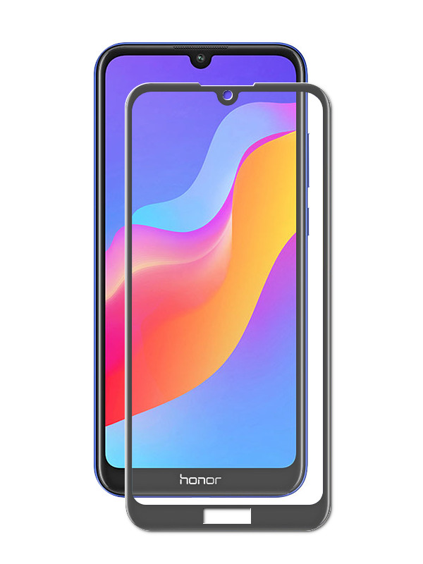 Защитное стекло Krutoff для Huawei Y6 2019/Y6 Pro 2019/Enjoy 9E/Honor Play 8A Full Glue Premium Black 22765