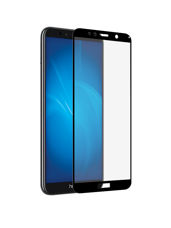 Защитное стекло Krutoff для Huawei Y6 Prime 2018/Y6 2018/Enjoy 8e/Honor 7A Full Glue Premium Black 22763