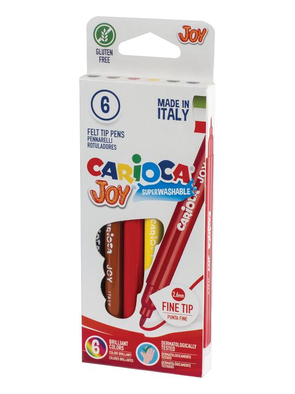 Фломастеры Carioca Joy 6 цветов 40613