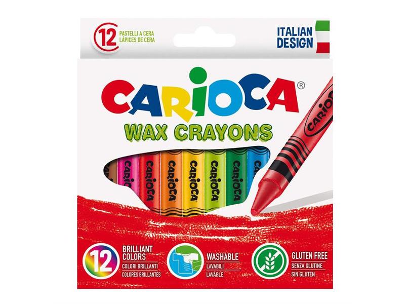 Восковые мелки Carioca 12 цветов 42365