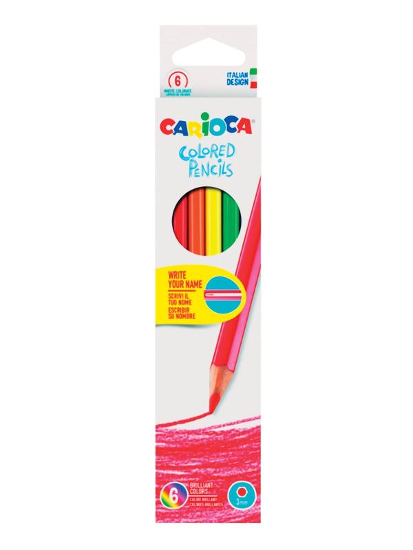 Карандаши цветные Carioca 6 цветов 41256