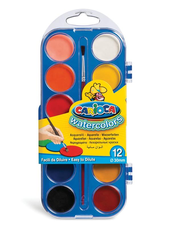 Краски акварельные Carioca Watercolor 12 цветов KO040/A