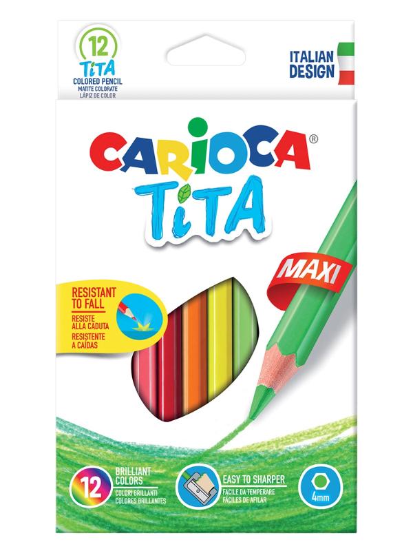 Карандаши цветные Carioca Tita Maxi 12 цветов 42789