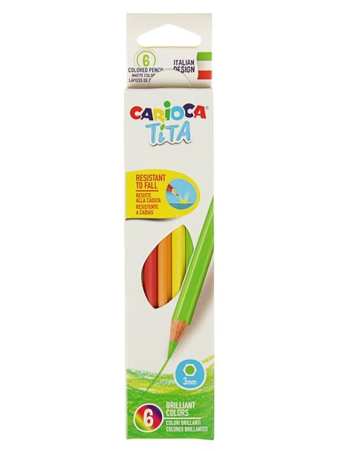 Карандаши цветные Carioca Tita 6 цветов 42792