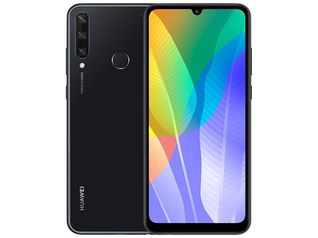 Сотовый телефон Huawei Y6P 3/64Gb Midnight Black Выгодный набор + серт. 200Р!!!