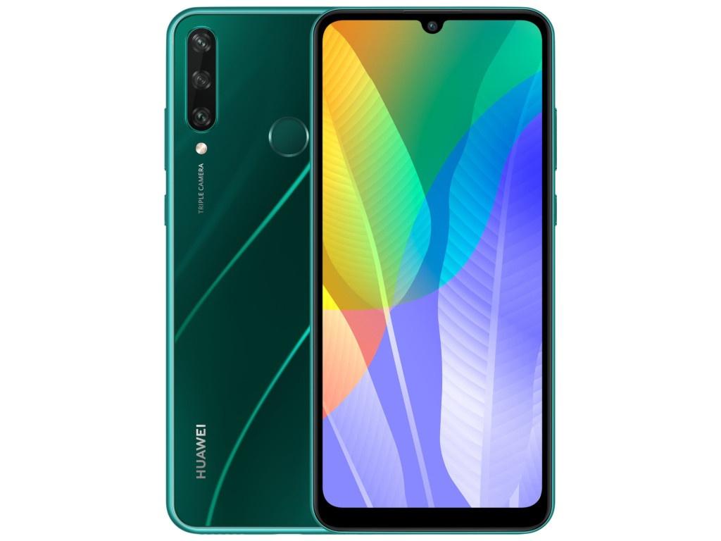 Сотовый телефон Huawei Y6P 3/64Gb Emerald Green Выгодный набор + серт. 200Р!!!