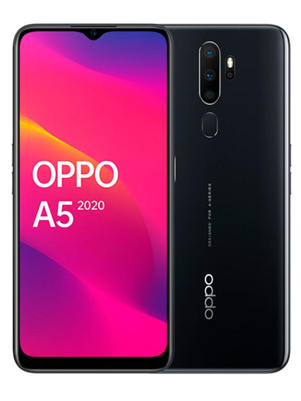 Сотовый телефон OPPO A5 (2020) 3/64Gb Mirror Black Выгодный набор + серт. 200Р!!!