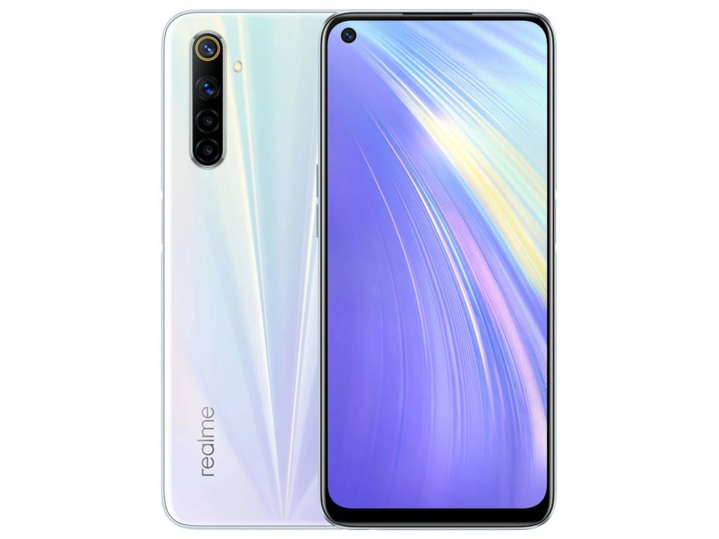 Сотовый телефон Realme 6 8/128Gb LTE White Выгодный набор + серт. 200Р!!! сотовый телефон realme 6 8 128gb lte blue