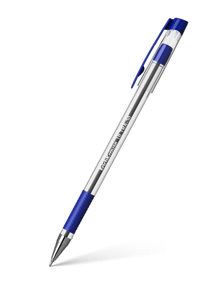 Ручка шариковая ErichKrause Ultra-30 0.7mm корпус Transparent, стержень Blue 19613