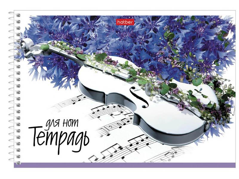 Тетрадь Hatber Музыка цветов A4 24 листа 24ТдН5Всп_19056