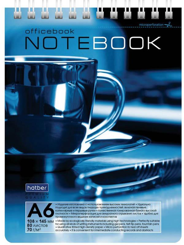 Блокнот Hatber Premium Кофе A6 80 листов 80Б6лA1гр_06603