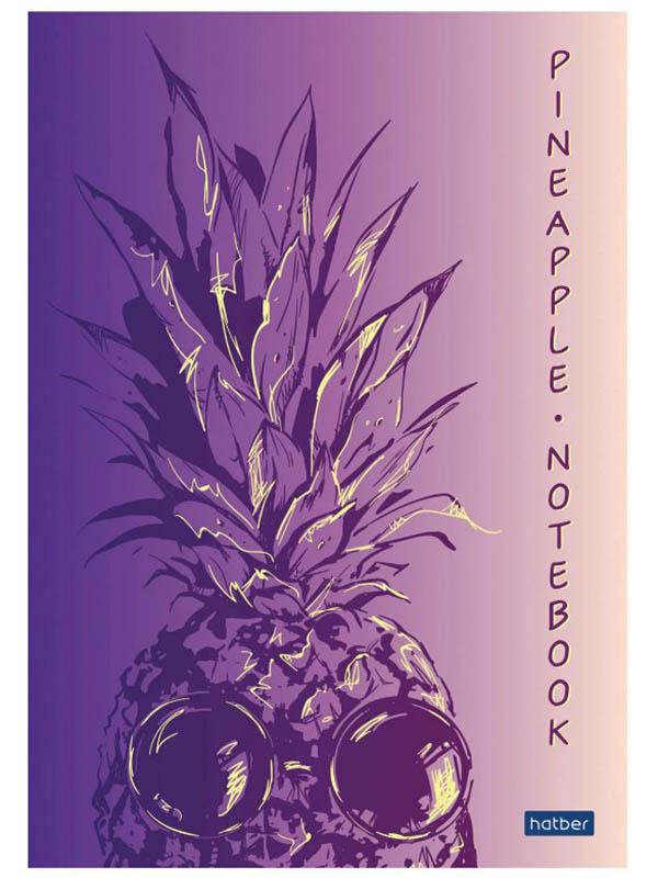 Блокнот Hatber Premium Pineapple A5 50 листов 50Б5лA9к