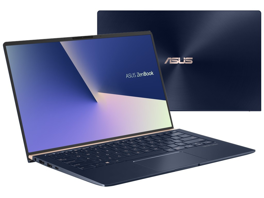 Ноутбук ASUS Zenbook UX433FAC-A5154 90NB0MQ5-M08030 (Intel Core i5-10210U 1.6GHz/8192Mb/512Gb SSD/Intel UHD Graphics/Wi-Fi/Bluetooth/Cam/14.0/1920x1080/DOS)