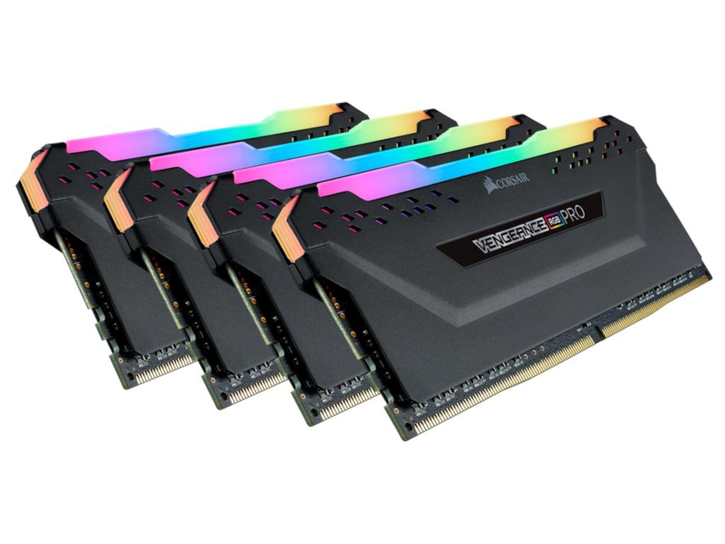 Модуль памяти Corsair DDR4 DIMM 3200MHz PC4-25600 CL16 - 64Gb KIT (4x16Gb) CMW64GX4M4C3200C16