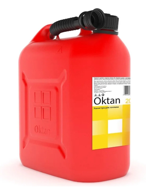 Канистра Oktan пластиковая 20L Black 47091 канистра пластиковая oktan profi для гсм 20 л