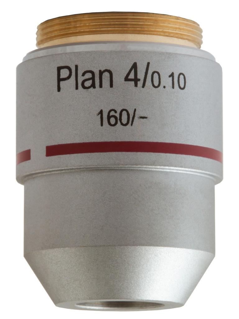 Объектив планахроматический Levenhuk MED 4x 76068