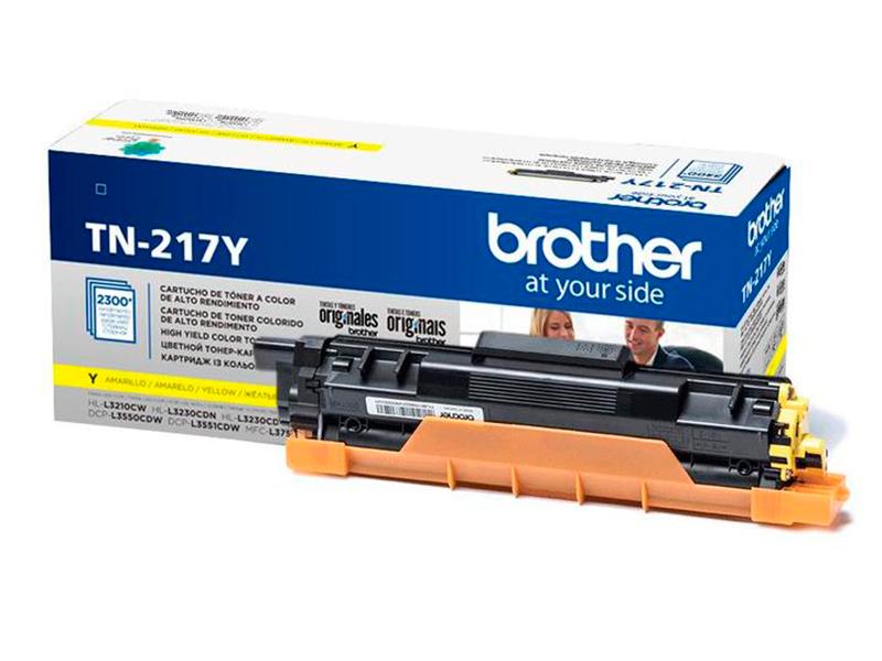Картридж Brother TN-217Y Yellow для MFC-L3770CDW/DCP-L3550CDW/HL-L3230CDW картридж brother tn 326c cyan для 8250 89200 8650 9550 3500стр